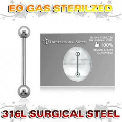 BARBELLS  1,6mm  19 mm STERILE